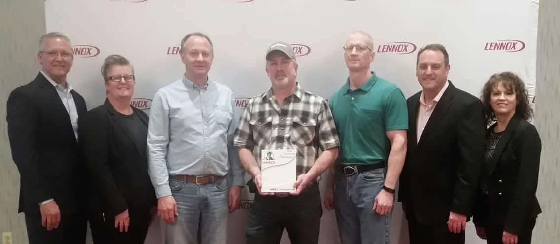 gary and sons receiving lennox award