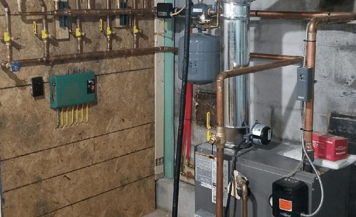 lennox gas boiler installation in grampian